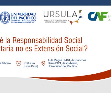 Conferencia: ¿Por qué la Responsabilidad Social Universitaria no es Extensión Social?